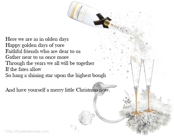 Merry Little Christmas Moet Chandon 5