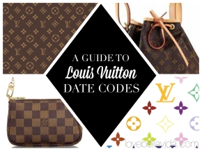A Guide to Louis Vuitton DateCodes