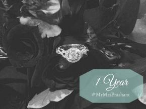 Wedding Countdown: One Year to#MrMrsPrashant