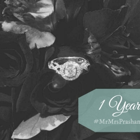 Wedding Countdown: One Year to #MrMrsPrashant