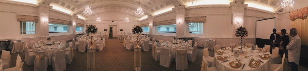A pano shot of his family viewing the Straits Room taken by my future brother-in-law.