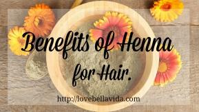 Benefits of Henna forHair