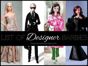 List of Designer BarbieDolls