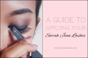 Sarah Jean Lashes: Guide to Applying False Lashes